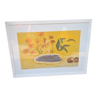 Mid-Century Watercolor Painting by Hermes