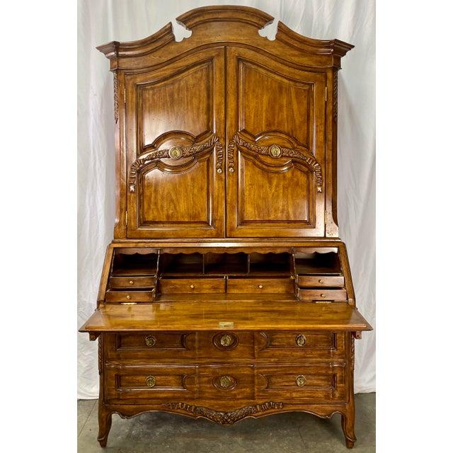 Vintage French Provincial Walnut Secretary Desk Hutch Chairish