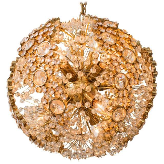 Gilt Brass J.L. Lobmeyr Chandelier For Sale - Image 9 of 9