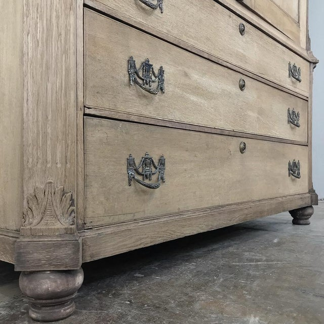Metal 18th Century Louis XVI Period Stripped Dutch Wardrobe For Sale - Image 7 of 13