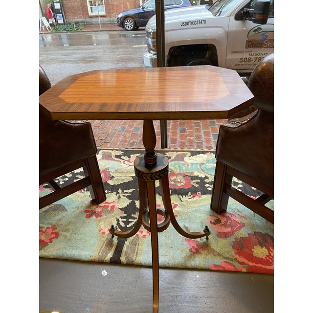 This is a great accent table. Originally a 19th century candle stand, but now it can be used as a nice side table or...