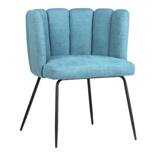 Aqua Scalloped Chair For Sale
