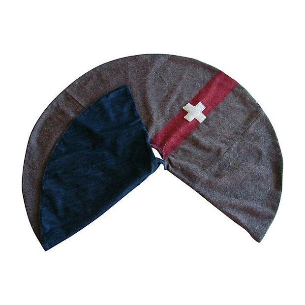 Custom Swiss Wool Blanket Christmas Tree Skirt - Image 5 of 6