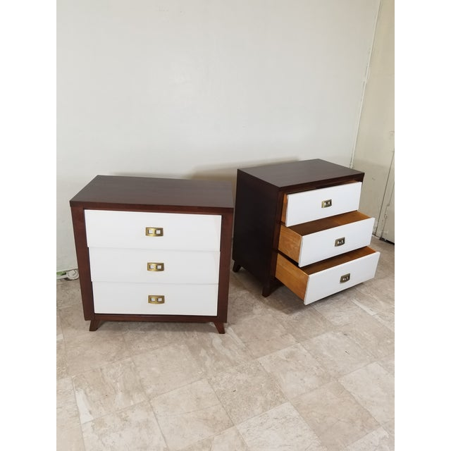Paul Frankl Pair of Modern Chest of Drawers For Sale - Image 4 of 13