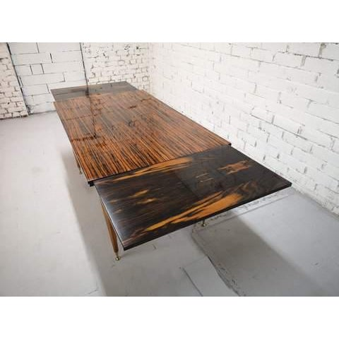1970s Mid-Century Modern Danish Draw Leaf Expanding Dining Table For Sale - Image 5 of 13