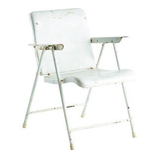 Russel Wright Samson or Samsonite Patio Folding Chair by Schwayder Bros. Inc. For Sale
