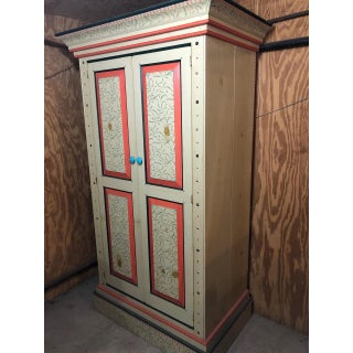 David Marsh Hand Painted Pine Armoire Preview