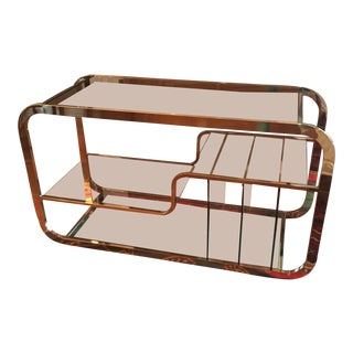 1970s Vintage Milo Baughman Low Etagere For Sale