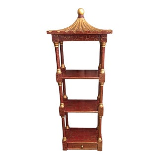 Vintage Chinoiserie Pagoda Etagere Shelf For Sale