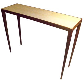 Custom Shagreen Top Console For Sale