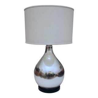 Large Mercury Glass Lamp For Sale