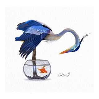 """""""Heron Solution"""" Giclee Print For Sale"""
