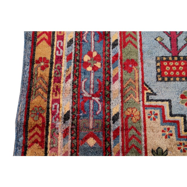 Mid-20th Century Vintage Khotan Rug 6' 10'' X 9' 7''. For Sale - Image 9 of 13