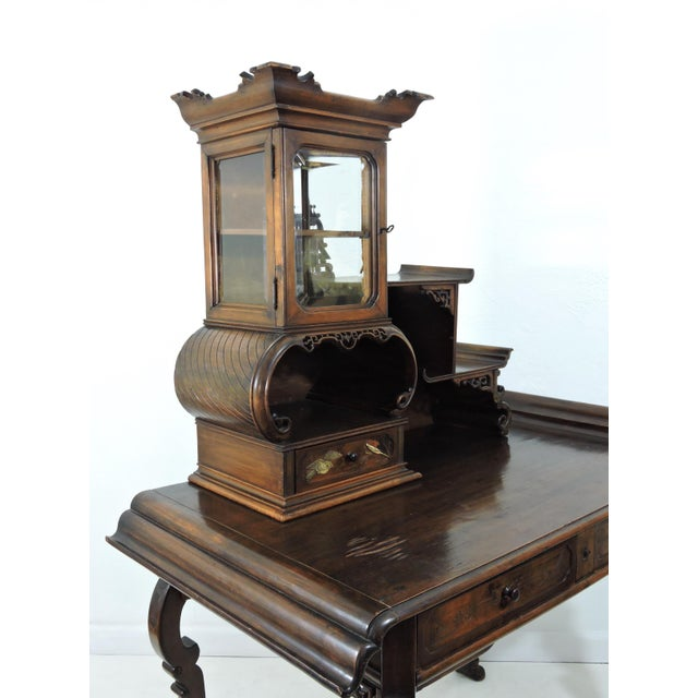 Antique French/Japanese Secretaire Attributed to Gabriel Verdoit, Etagere Desk/Console For Sale In Tampa - Image 6 of 9