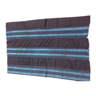 Verre Blue-Striped Fabric Throw For Sale