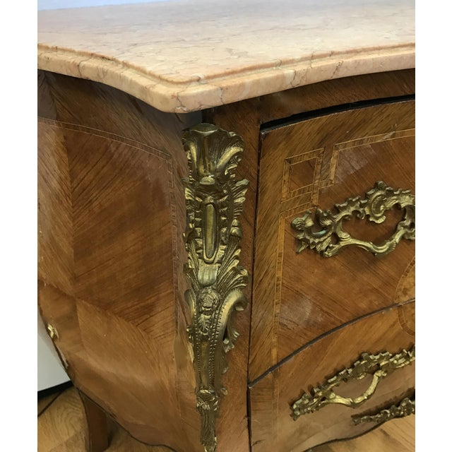 French Louis XV Marquetry Commode For Sale - Image 4 of 8