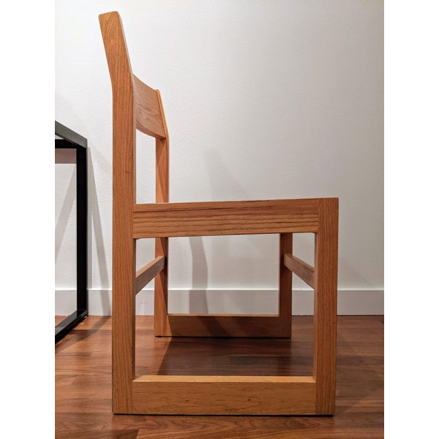 Wood Organic Modernist Minimalist Oak Chairs - Set of 12 For Sale - Image 7 of 10