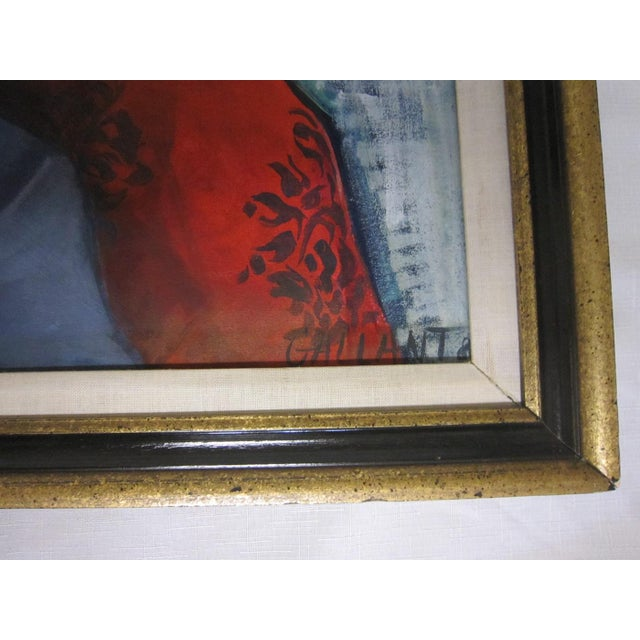 Gallant Modernist Portrait of a Woman Painting For Sale - Image 5 of 6