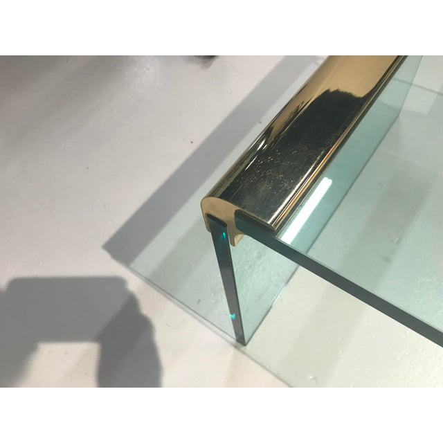 Pace 1970s Minimalist Pace Collection Brass and Glass Coffee Table For Sale - Image 4 of 8