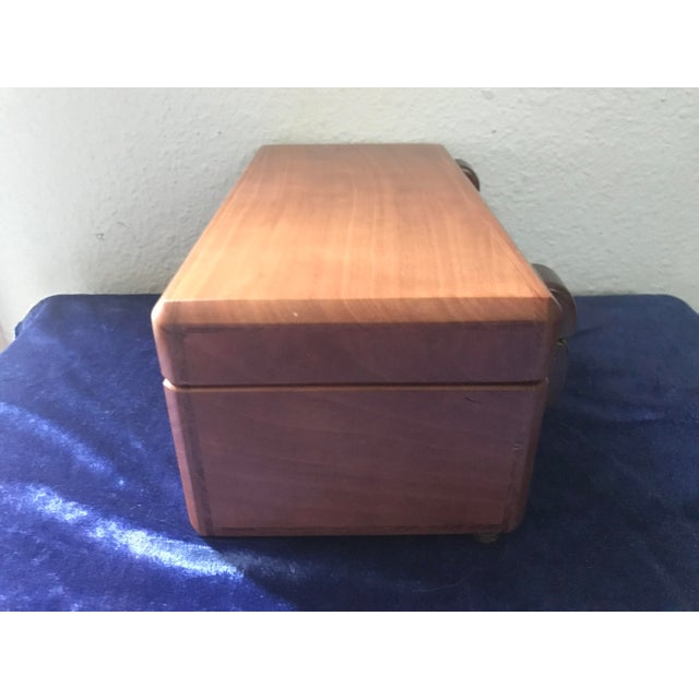 1960s Minimalist Hand Made Wood Vanity Dresser Box For Sale - Image 5 of 9