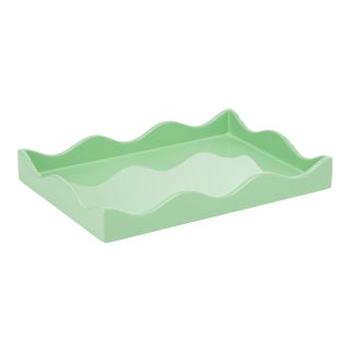 Rita Konig for The Lacquer Company Belles Rives Tray in Mint, Small For Sale