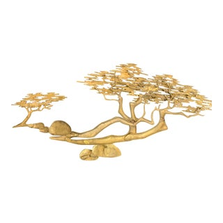 20th Century Brass Bonsai Tree Wall Sculpture by Bijan For Sale