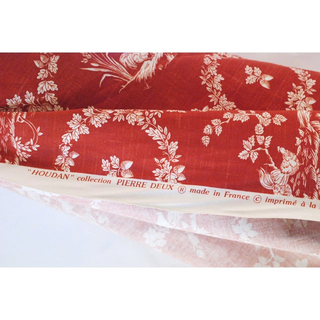 Pierre Deux Red Toile Linen Fabric- 10 Yards - Image 4 of 6