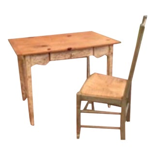 Custom Farmhouse Style Desk & Ladderback Chair