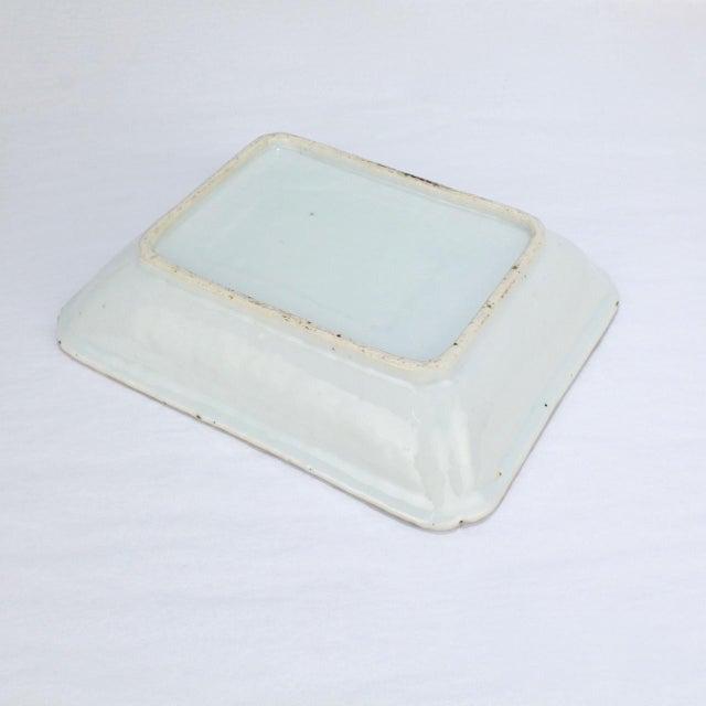 Antique Chinese Export Porcelain Famille Verte Bowl For Sale - Image 10 of 13