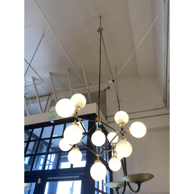 Visual Comfort Ian K. Fowler Bistro Four Arm Chandelier For Sale - Image 10 of 11