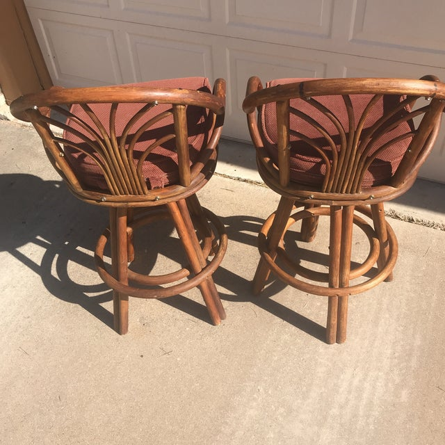 1960s Bentwood Swivel Bar Stools - a Pair - Image 6 of 8