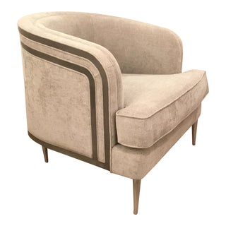 Caracole Modern Tranquil Gray Club Chair For Sale