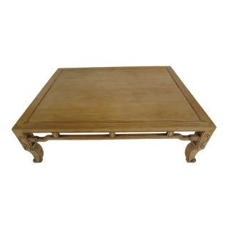 20th Century Ming Baker Coffee Table in Natural Finish For Sale