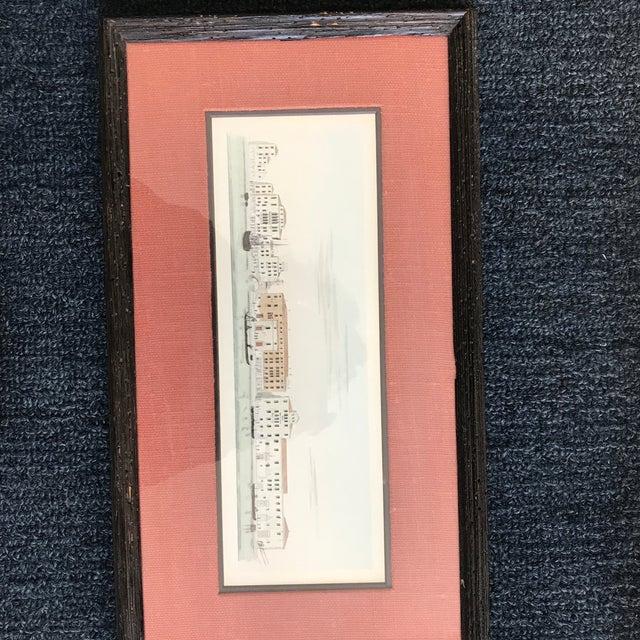 Set of 3 circa 1828 antique engravings by Antonio Quadri ..secretary to the imperial govenor of Venice Wood frames and...
