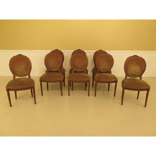 French Louis XV Carved Walnut Dining Room Chairs - Set of 8 For Sale - Image 13 of 13