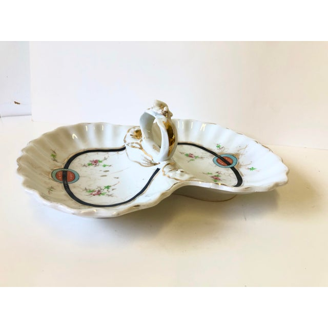 Art Deco Kpm Porcelain Double Bowl Serving Dish With Handle For Sale In Atlanta - Image 6 of 12