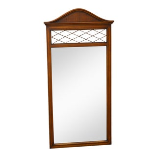 Vintage Fruitwood Regency Style Wall Mirror For Sale