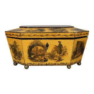 Regency Satinwood and Stenciled Box