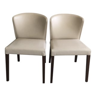 Crate & Barrel Italian Mid-Century Modern Dining Chairs - A Pair
