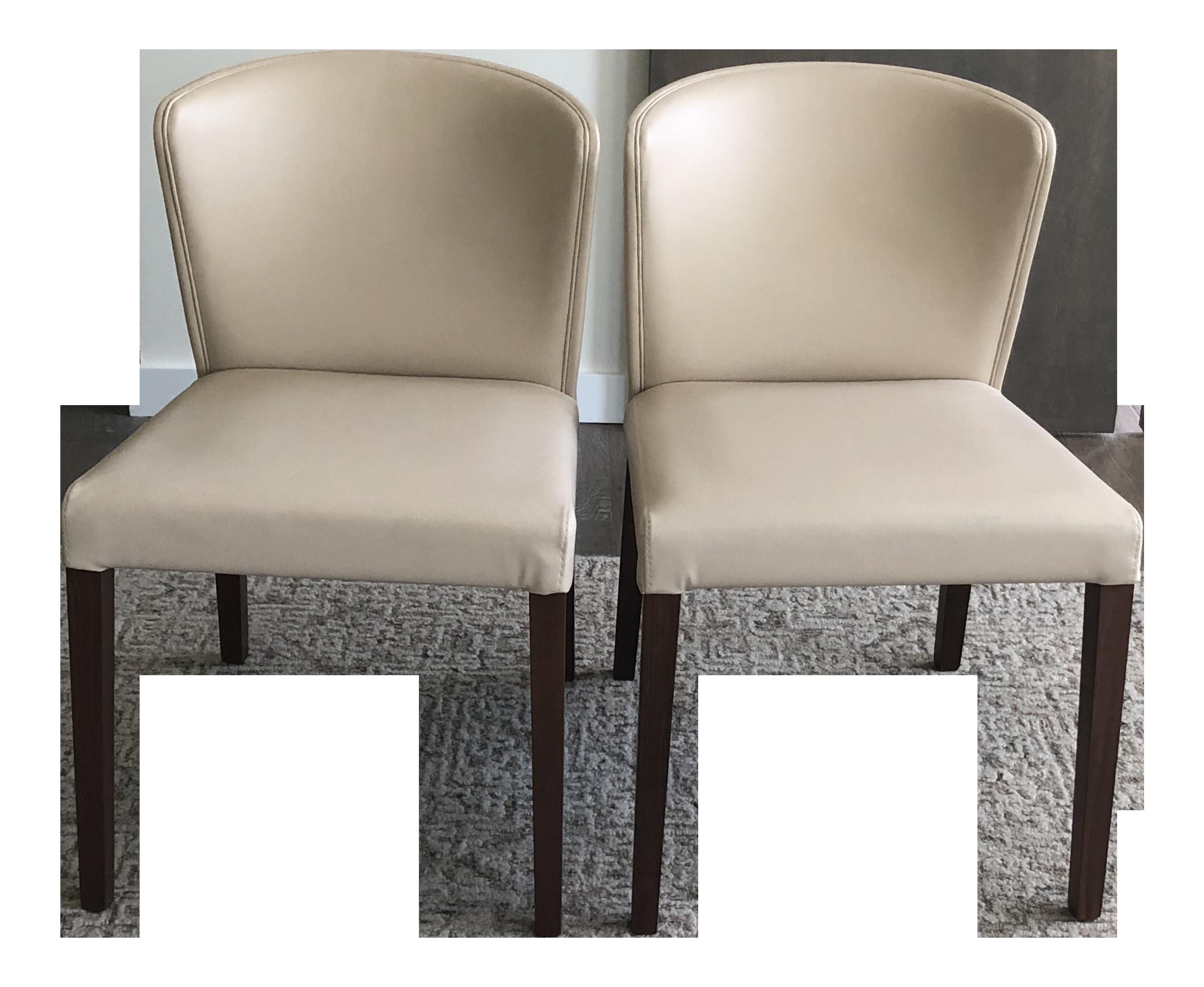 Crate U0026 Barrel Italian Mid Century Modern Dining Chairs   A Pair