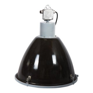 Vintage Enamel Factory, Industrial Pendant Lamp For Sale