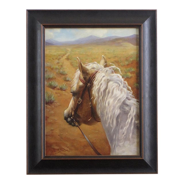 "Ute Simon ""Desert Trail"" Horse Painting - Image 1 of 7"