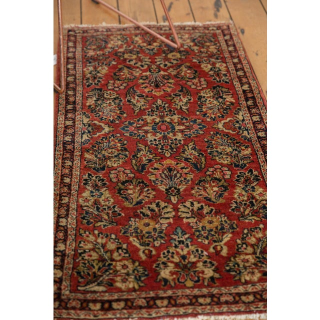 "Vintage American Sarouk Rug Runner - 2'2"" X 4'2"" For Sale In New York - Image 6 of 11"