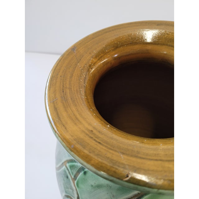 1940s Large Studio Pottery Vase by Zoltan Kiss for Knabstrup For Sale In Los Angeles - Image 6 of 8