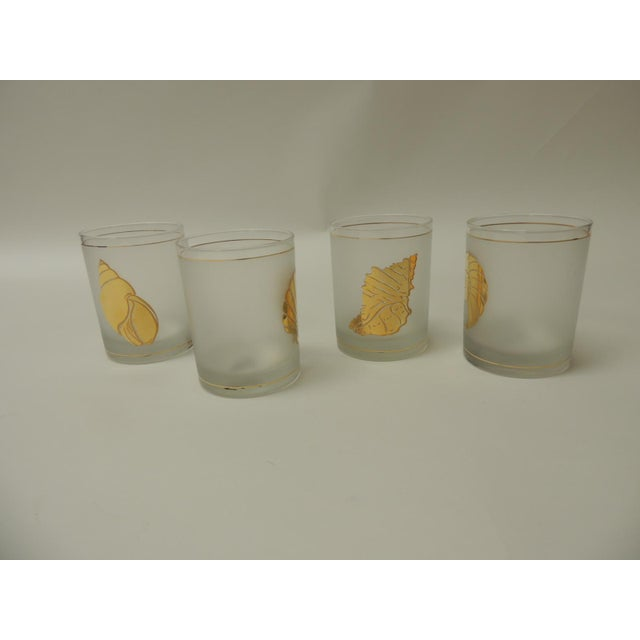 Set of (4) Double Old-Fashioned Frosted Glass Drinking Glasses For Sale - Image 4 of 7