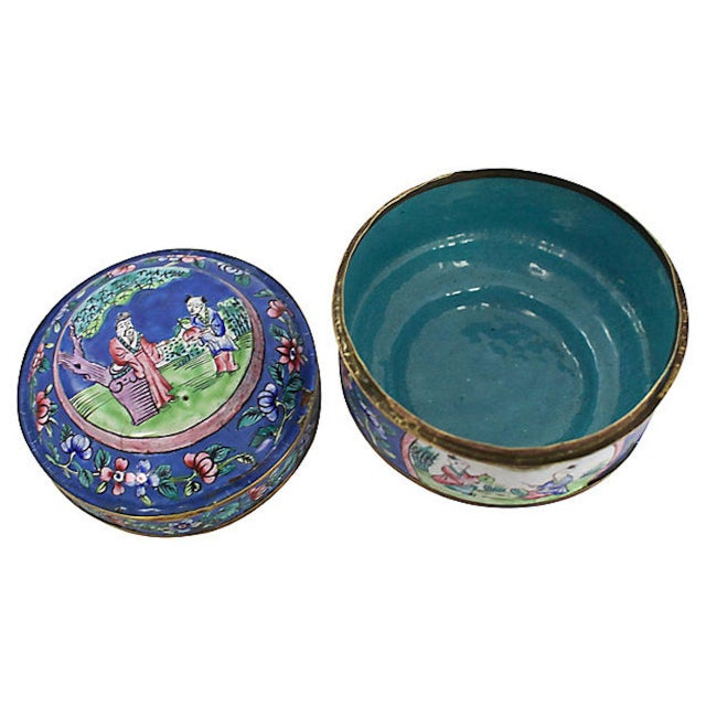 Late 19th Century 19th C. Chinese Enameled Box For Sale - Image 5 of 10