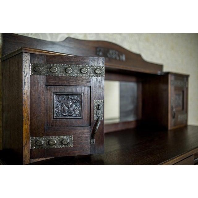 Art Nouveau Art Nouveau Oak Dining Room Set, circa 1910-1920 For Sale - Image 3 of 13
