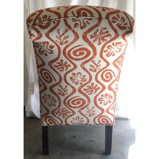 1940s Antique Parlor Chair Newly Reupholstered in Peter Fasano Fabric For Sale - Image 4 of 6