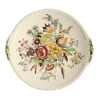 Johnson Brothers Garden Bouquet Handled Serving Platter For Sale