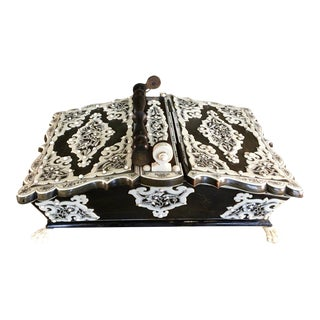 19th Century Anglo-Indian Basket-Form Sewing Box For Sale